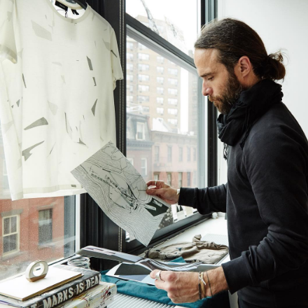 Co-Creative Director Ben Stubbington gathers inspiration from the late Zaha Hadid for Theory's Spring/Summer 2016 collection.