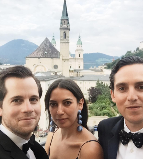 It's not a selfie if it's a somebody-elsie. The trio struck a pose in Austria.