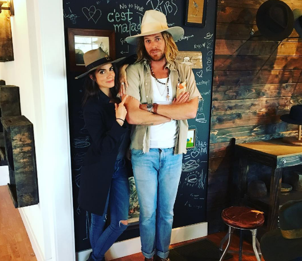 Nick Fouquet posed with celeb client Nikki Reed.