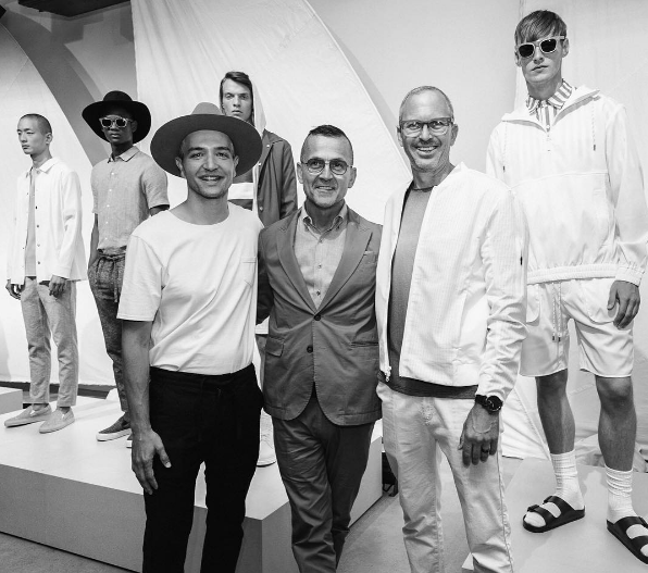 The Matiere duo posed with CFDA president and CEO Steven Kolb.