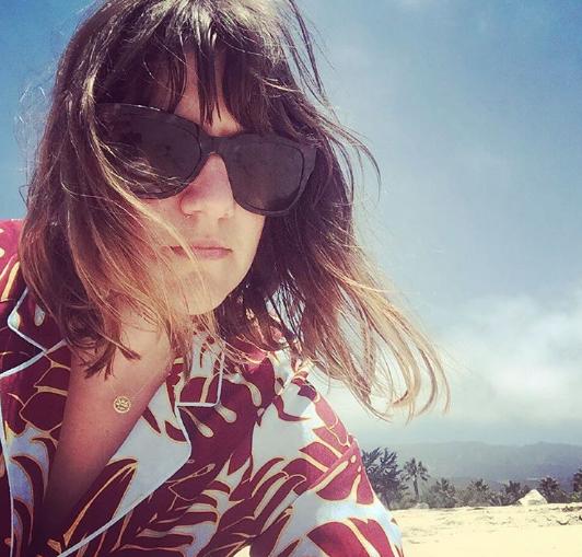 The shoe goddess snapped a selfie in Santa Barbara.