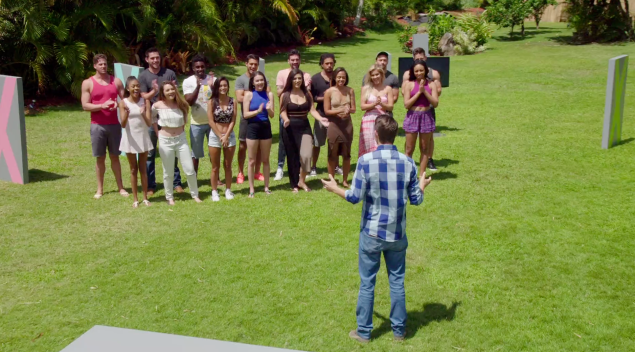 Last night, the guys' exes came onto the show for the challenge.