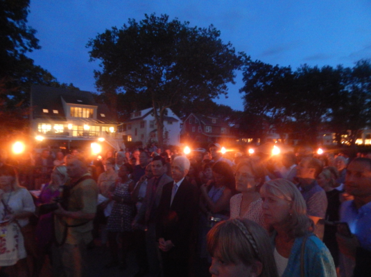 The crowd at Wednesday's event