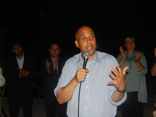 Senator Cory Booker lends his own upward momentum within the party to Democrats leading an all-out assault on a county where Democrats are targeting legislative swing districts