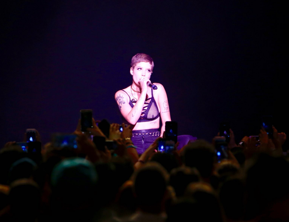 Halsey promised her screaming fans she would always come down into the crowd during performances.