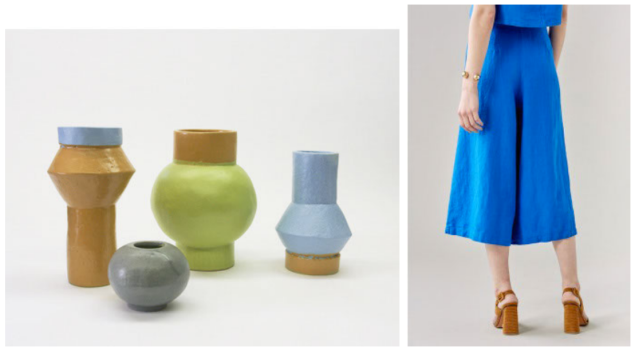 The line between ceramics and pants