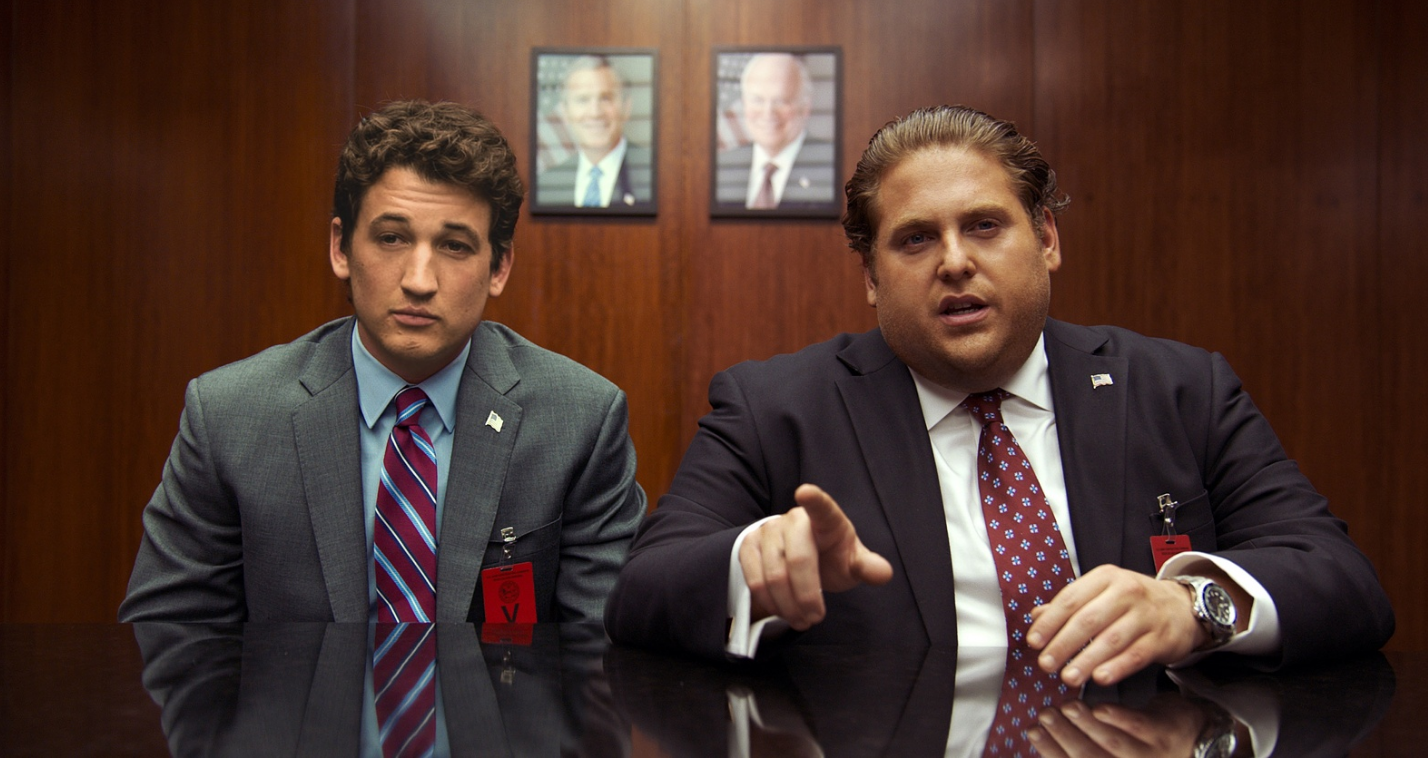 Miles Teller and Jonah Hill in War Dogs.