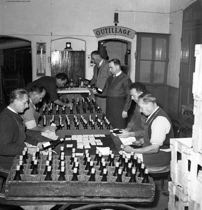 The Hôtel de Paris Monte-Carlo wine cellar - 1949
