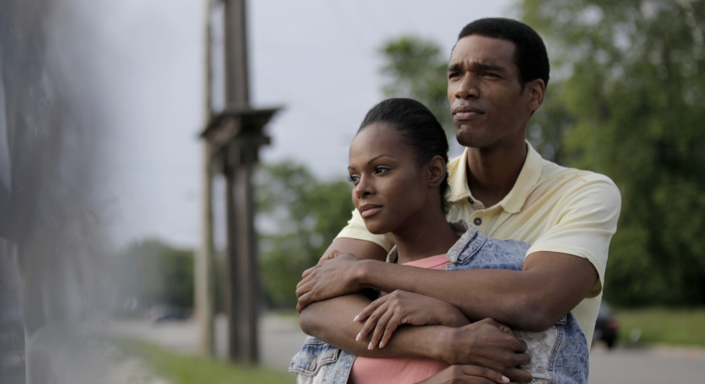 Tika Sumpter as Michelle Robinson and Parker Sawyers as Barack Obama.