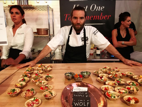 Marcel Vigneron was a big draw at the Los Angeles Food & Wine Festival's Grand Tasting.