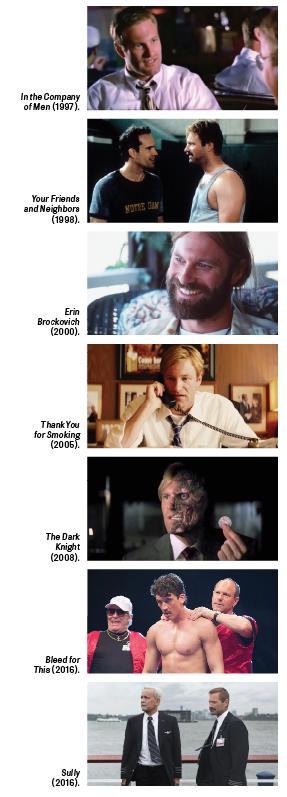 The roles of Aaron Eckhart