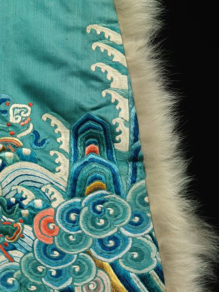 Woman's ceremonial robe detail, Qing dynasty 19th century China