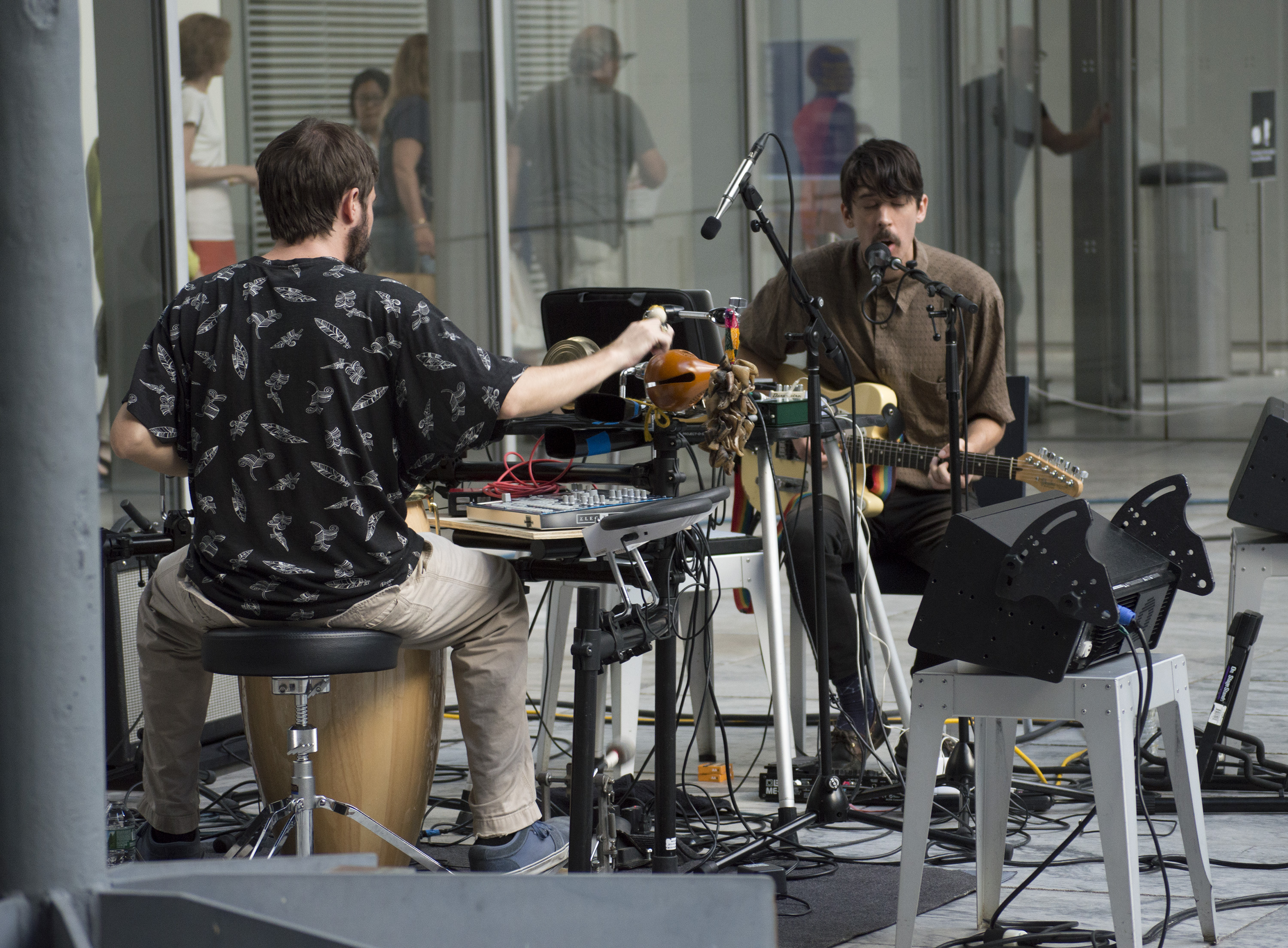 Sun Araw performs in the garden at MoMa Summer Thursdays on August 18, 2016