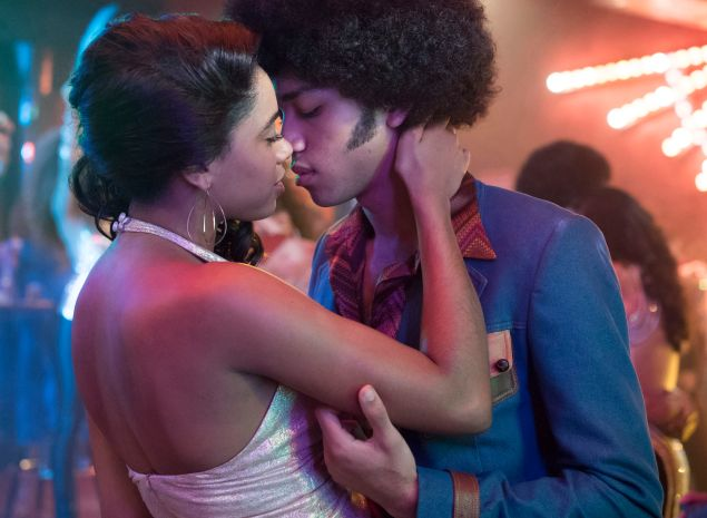 Herizen Guardiola and Justice Smith in The Get Down.