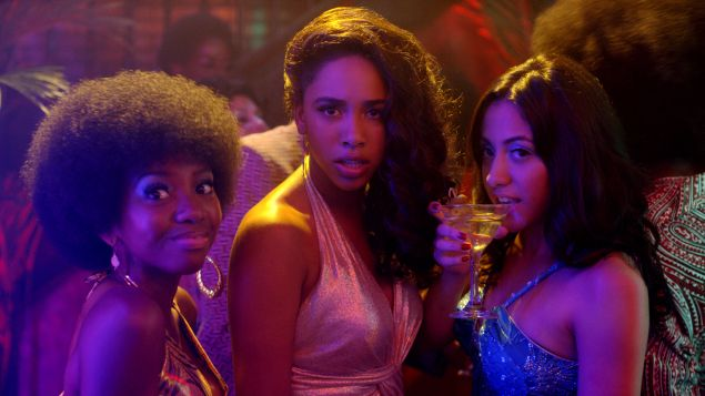 Stefanée Martin, Herizen F. Guardiola and Shryley Rodriguez in The Get Down.