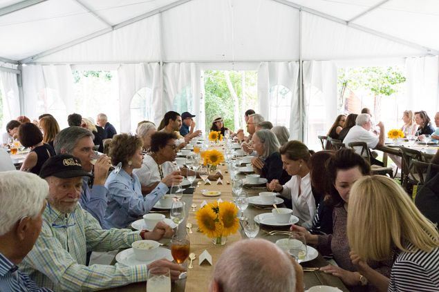 The VIP luncheon at the Anderson Ranch Arts Center.