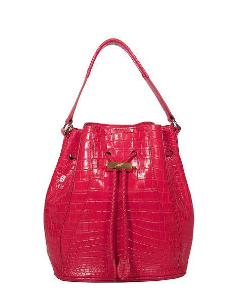 The Red Edem Mini Crocodil Bucket Bag, $2,995, Khirmaeliazov.com