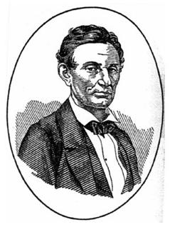 Abraham Lincoln, beardless.
