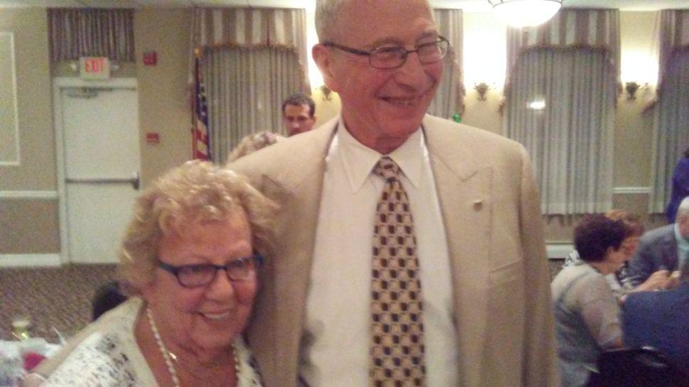 Senate Majority Leader Loretta Weinberg (D-Teaneck) with Joel Shain, former Mayor of Orange.