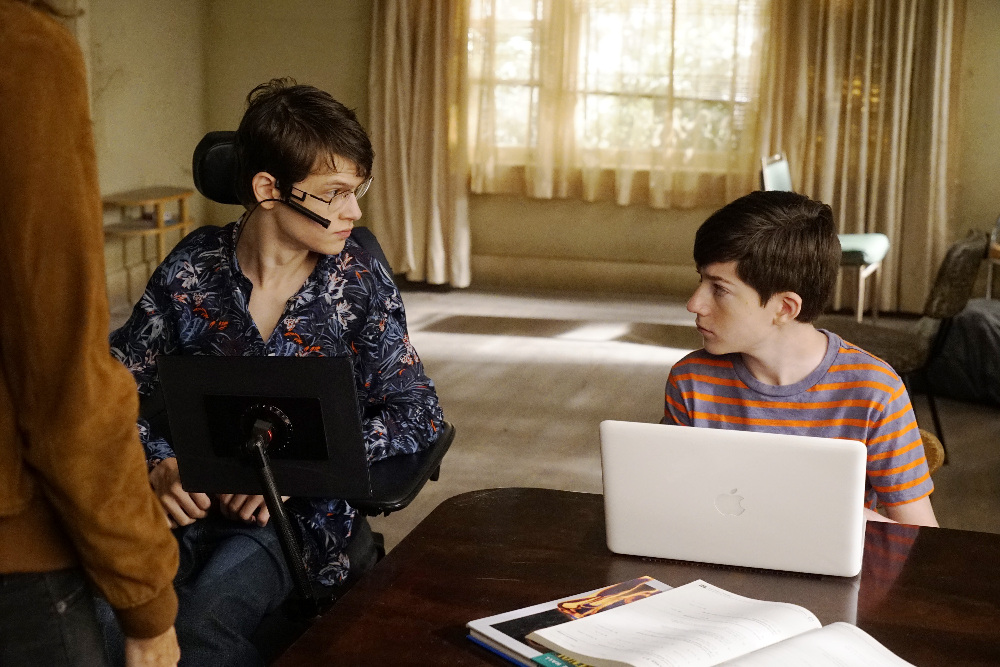 Micah Fowler and Mason Cool in Speechless.