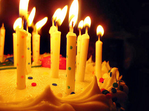 Leave the candles on the cake.