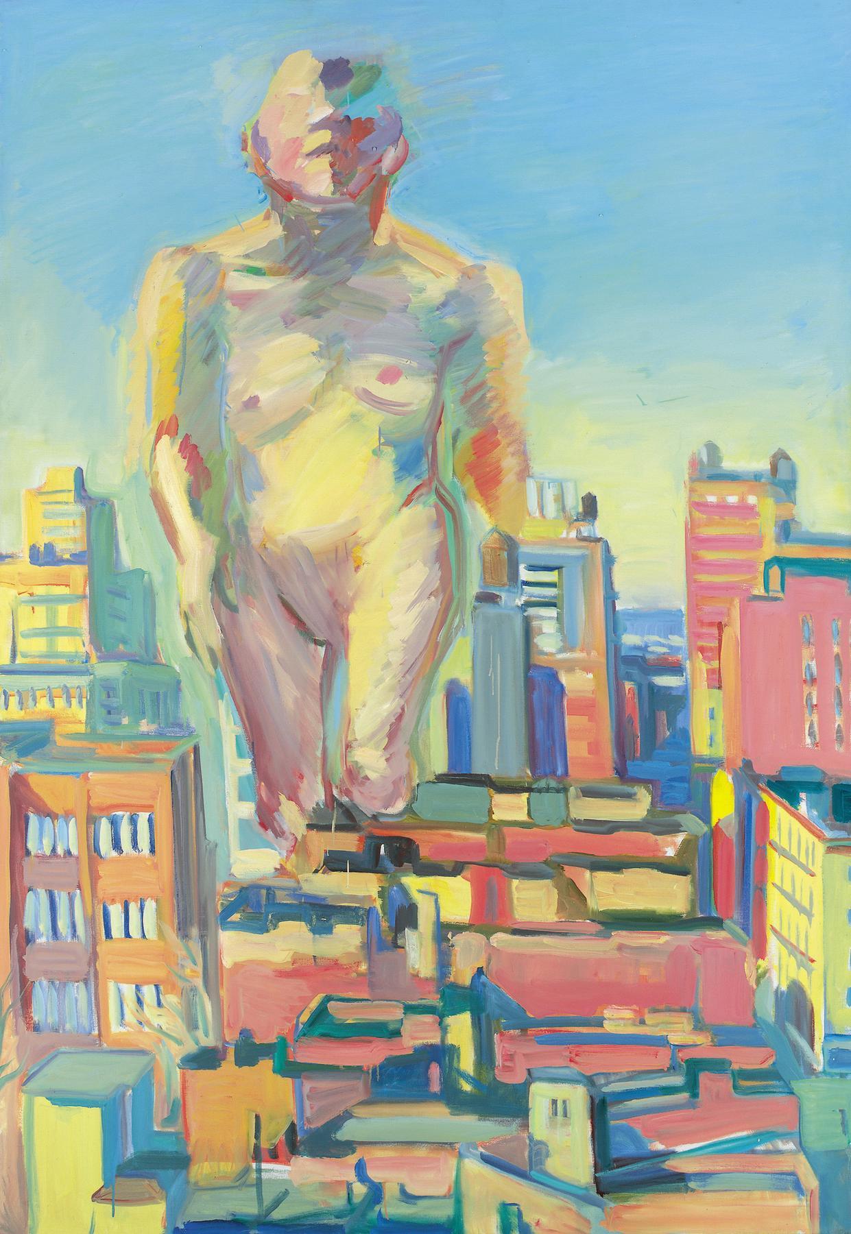 Maria Lassnig. Woman Power, 1979.