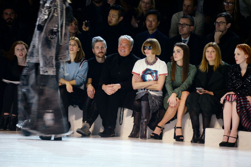 Front Row, Marc Jacobs Fall/Winter 2016 Show