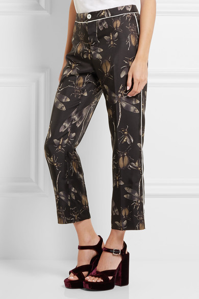 F.R.S. For Restless Sleepers Printed Silk-Twill Wide-Leg Pants, $480, Net-a-Porter.com
