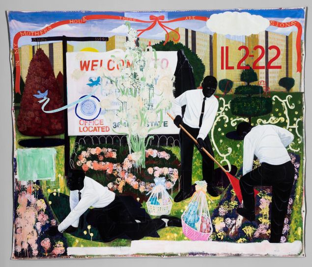 Kerry James Marshall's Many Mansions (1994).