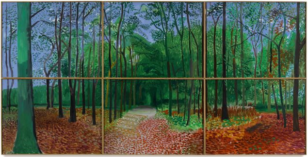 "The first work from David Hockney's ""Woldgate Woods"" series."