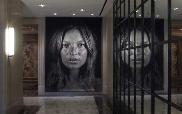 Tapestry at The Surrey; Kate, 2007 by Chuck Close.