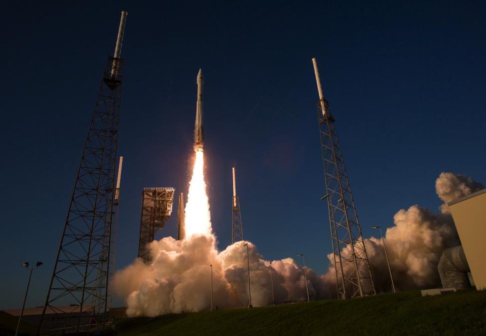The Atlas V rocket launches OSIRIS-REx towards Asteroid Bennu