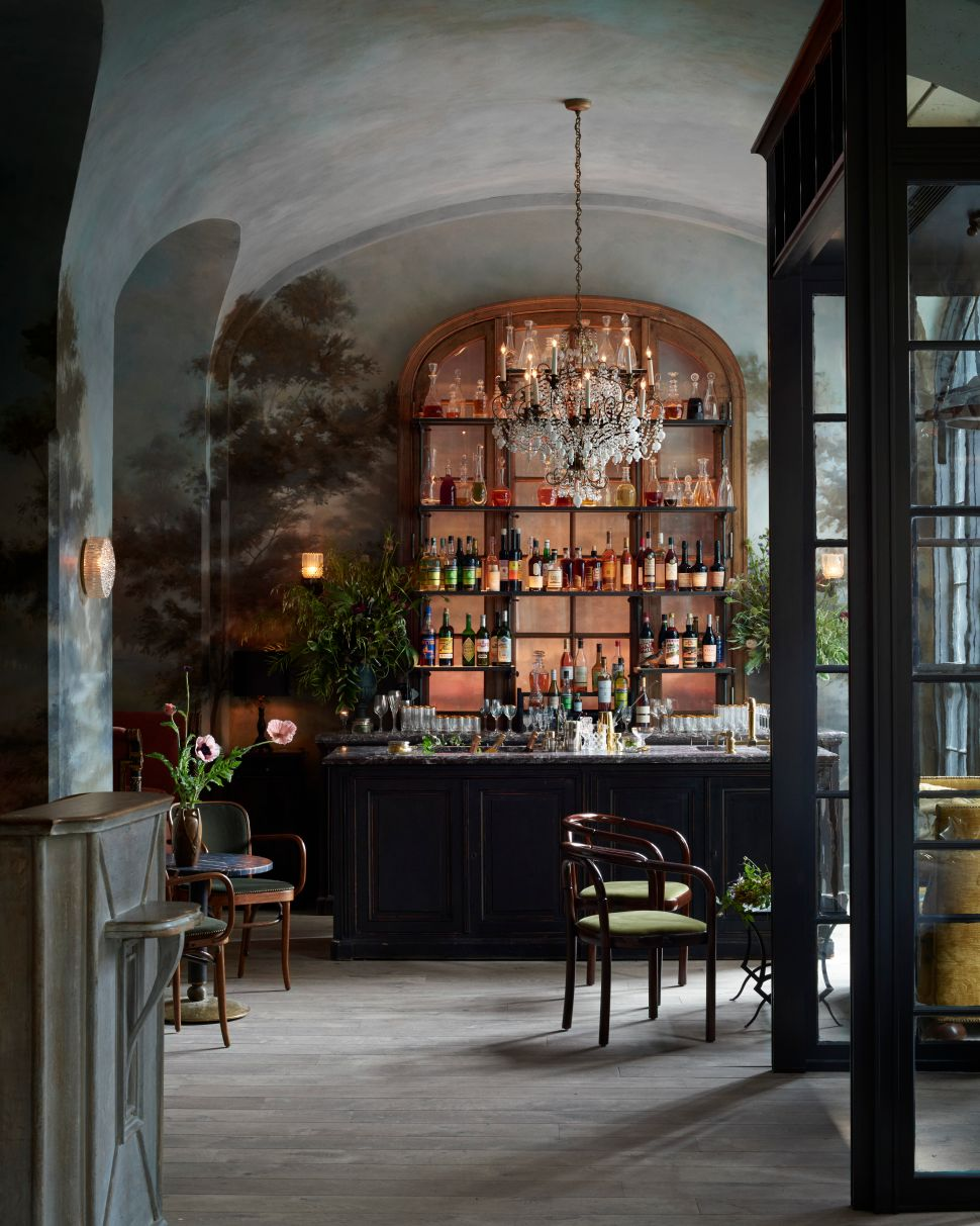 The bar at Le Coucou by Chef Daniel Rose