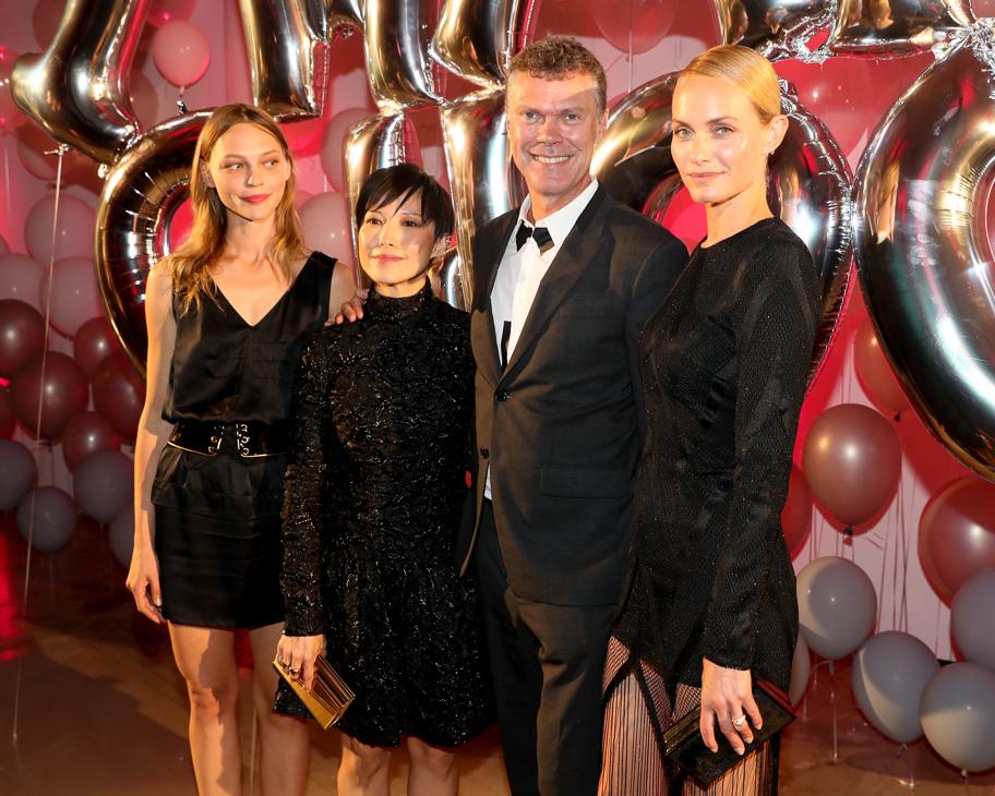 Sasha Pivovarova, Sandra Choi, Pierre Denis, Amber Valletta