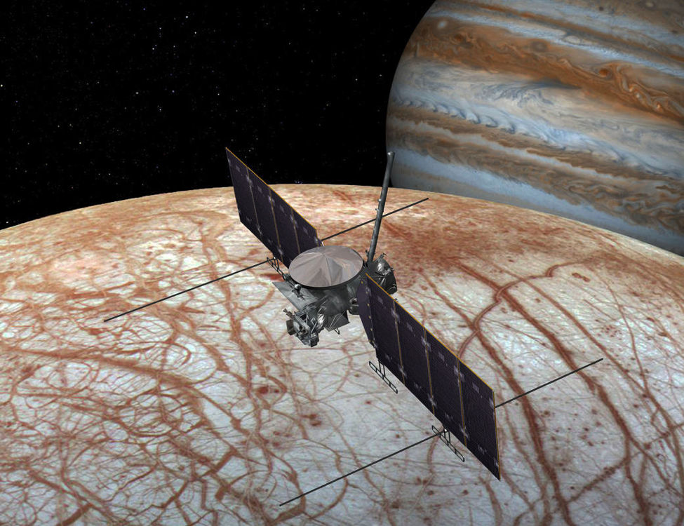 Artist rendering showing NASA's Europa mission spacecraft, which could launch sometime in the 2020s