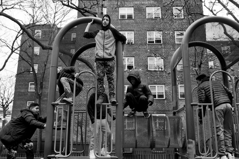 Chavier and friends take an afternoon break and head outside to play around the playground.