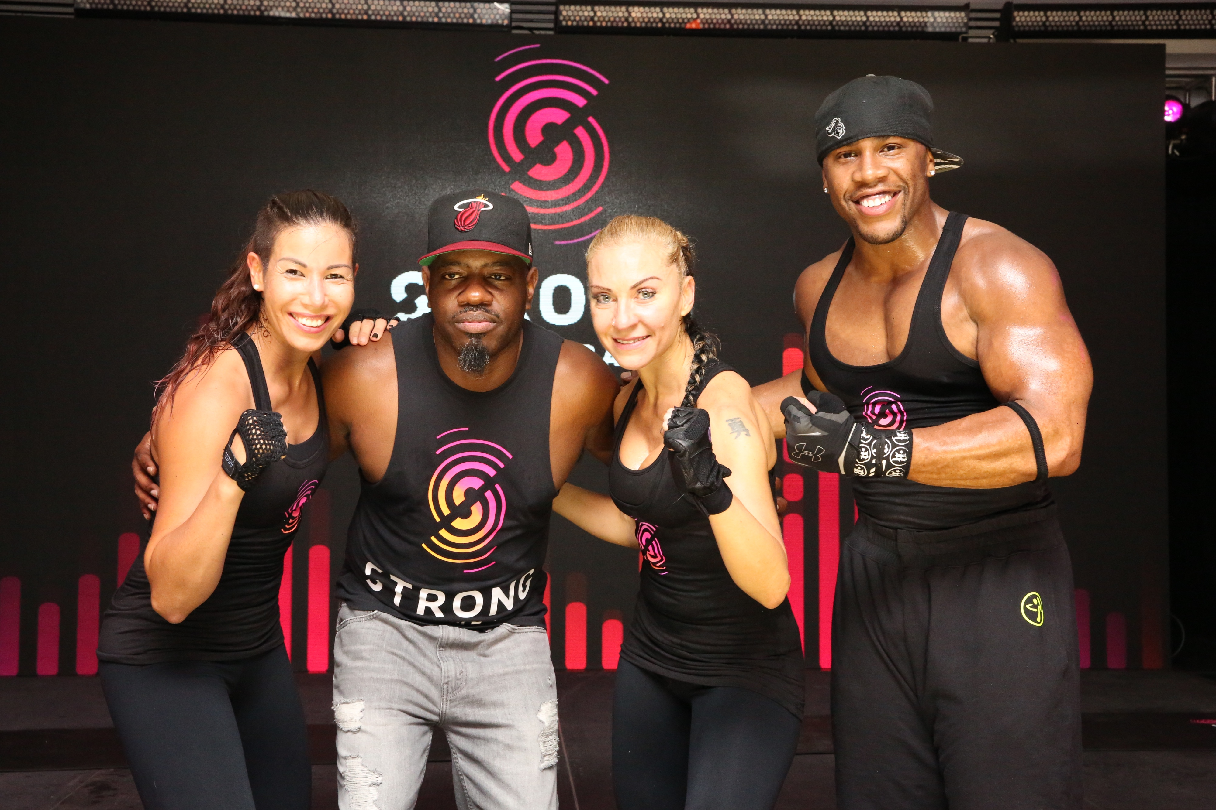 The STRONG by Zumba crew.