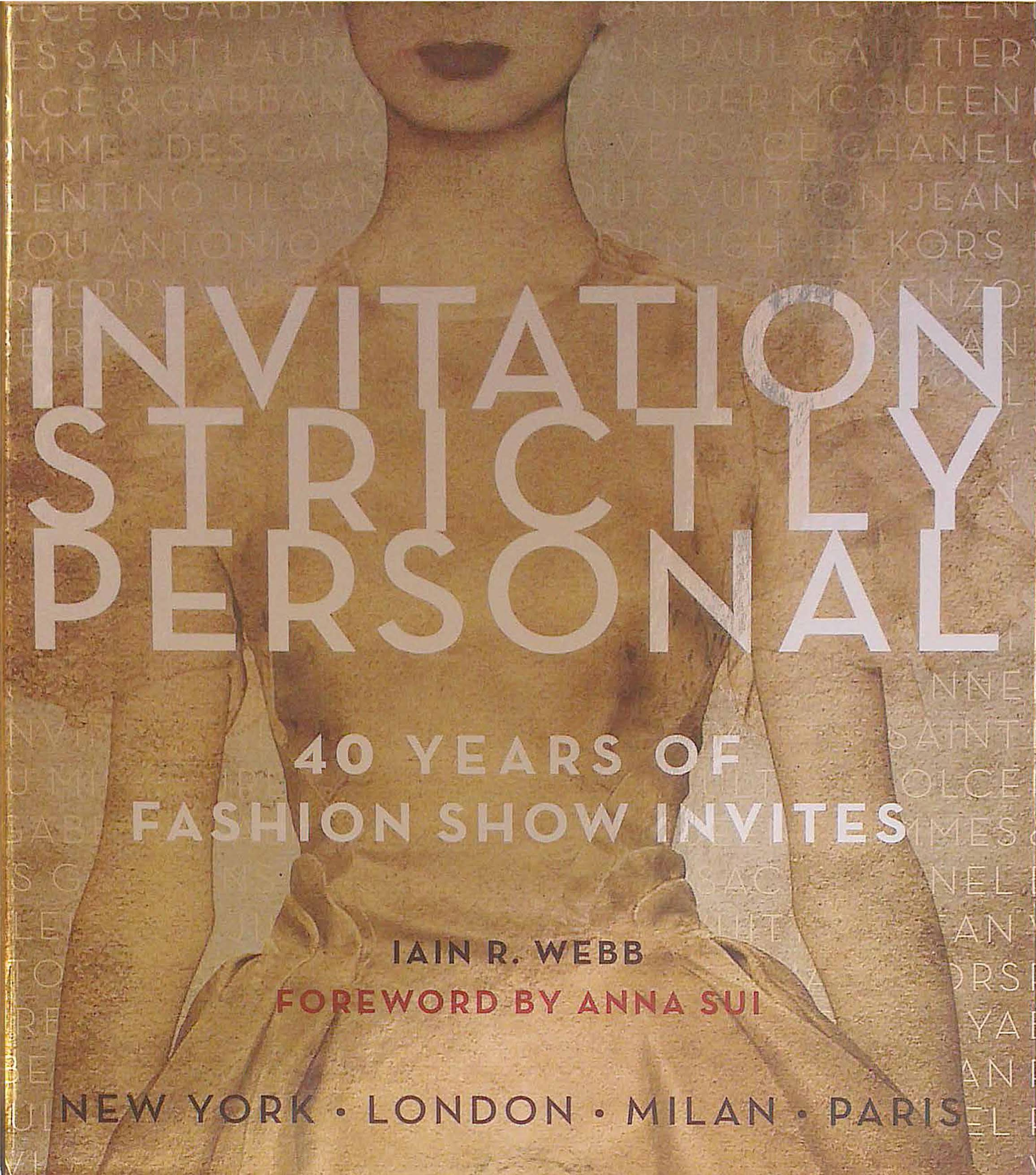 Cover of Invitation Strictly Personal.