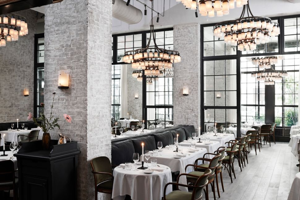 The dining room at Le Coucou by Chef Daniel Rose