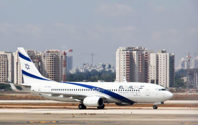 El Al jet in Israel.