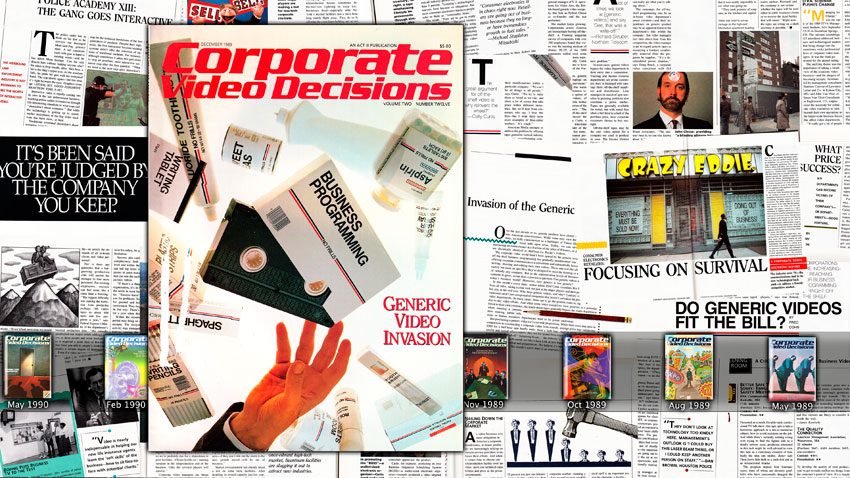 Simon Denny, Corporate Video Decisions Double Canvas (Generic Video Invasion), (2011).