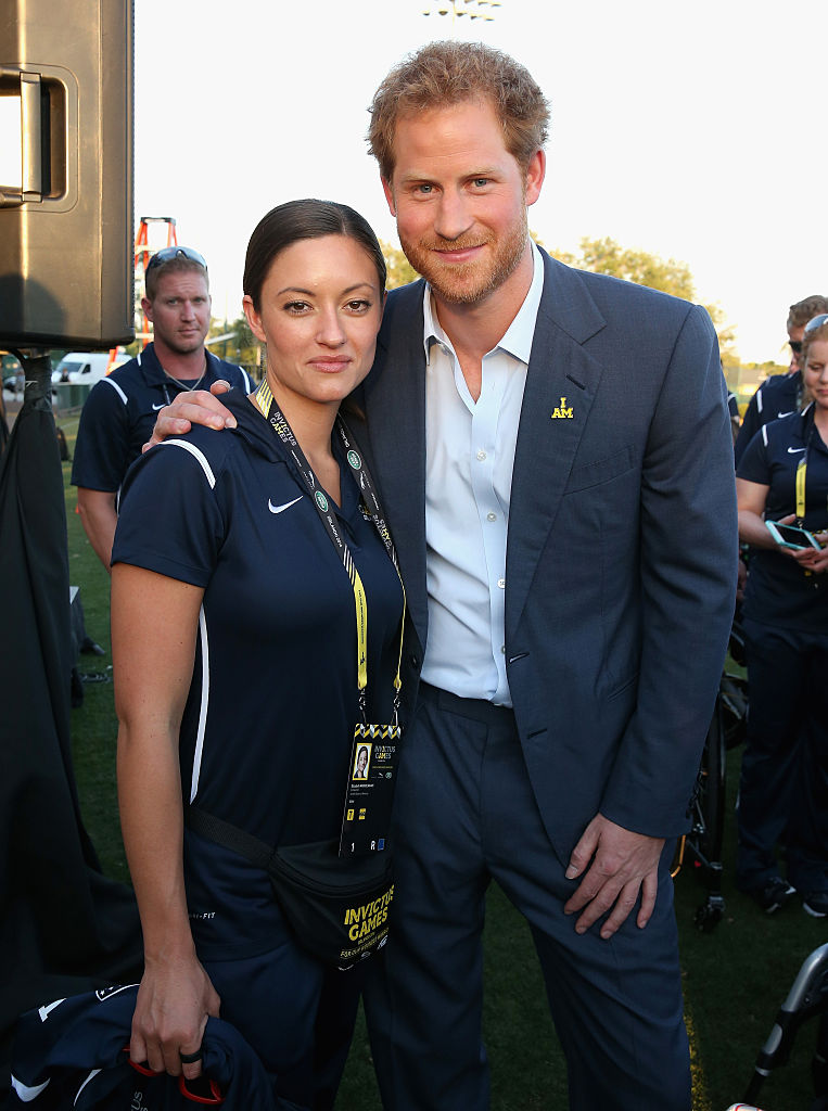 ORLANDO, FL - MAY 08: Prince Harry meets USA Invictus Team Member Elizabeth Marks ahead of the Opening Ceremony of the Invictus Games Orlando 2016 at ESPN Wide World of Sports on May 8, 2016 in Orlando, Florida. Prince Harry, patron of the Invictus Games Foundation is in Orlando ahead of the opening of Invictus Games which will open on Sunday. The Invictus Games is the only International sporting event for wounded, injured and sick servicemen and women. Started in 2014 by Prince Harry the Invictus Games uses the power of Sport to inspire recovery and support rehabilitation.