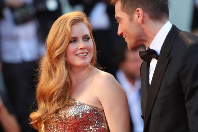 Jake Gyllenhaal and Amy Adams attend the 73rd Venice Film Festival.