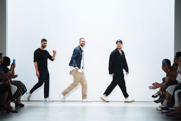 Niklaus Hodel, Matthias Weber and Florian Feder of Band of Outsiders.