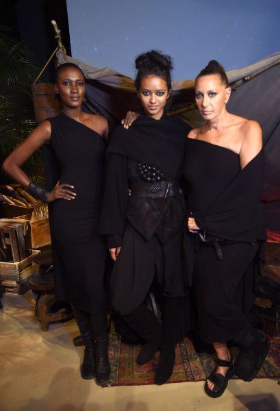 Donna Karan with a few of her Urban Zen models