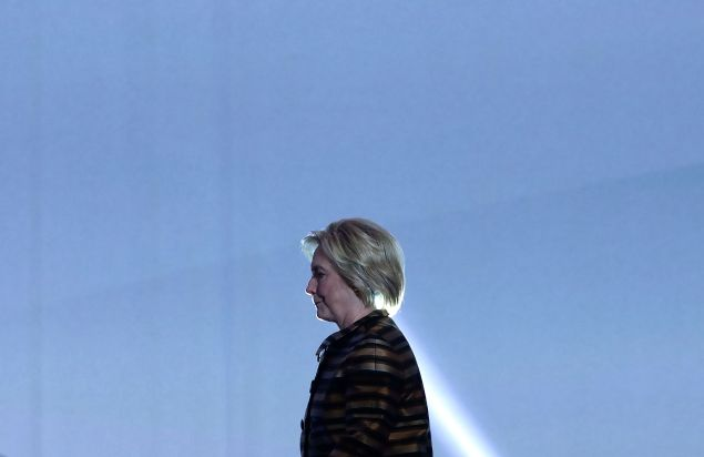 Democratic presidential nominee Hillary Clinton walks on stage prior to her speech during the 39th annual awards gala of the Congressional Hispanic Caucus Institute (CHCI) September 15, 2016 in Washington, DC. The gala is one of the nationÕs premier events commemorating Hispanic Heritage Month.