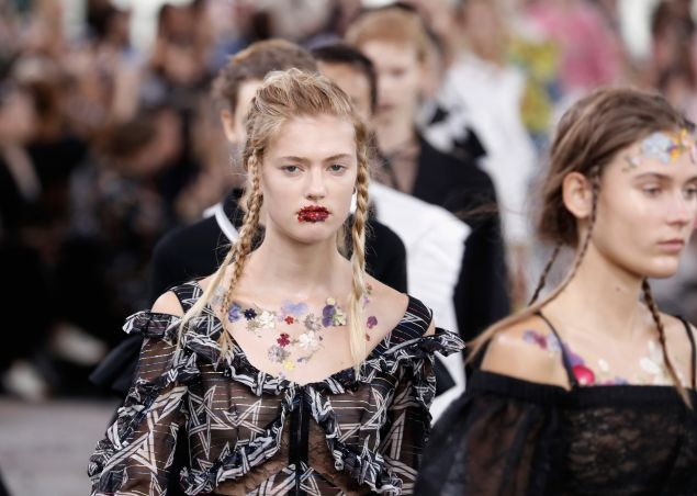 Floral faces spotted at Preen