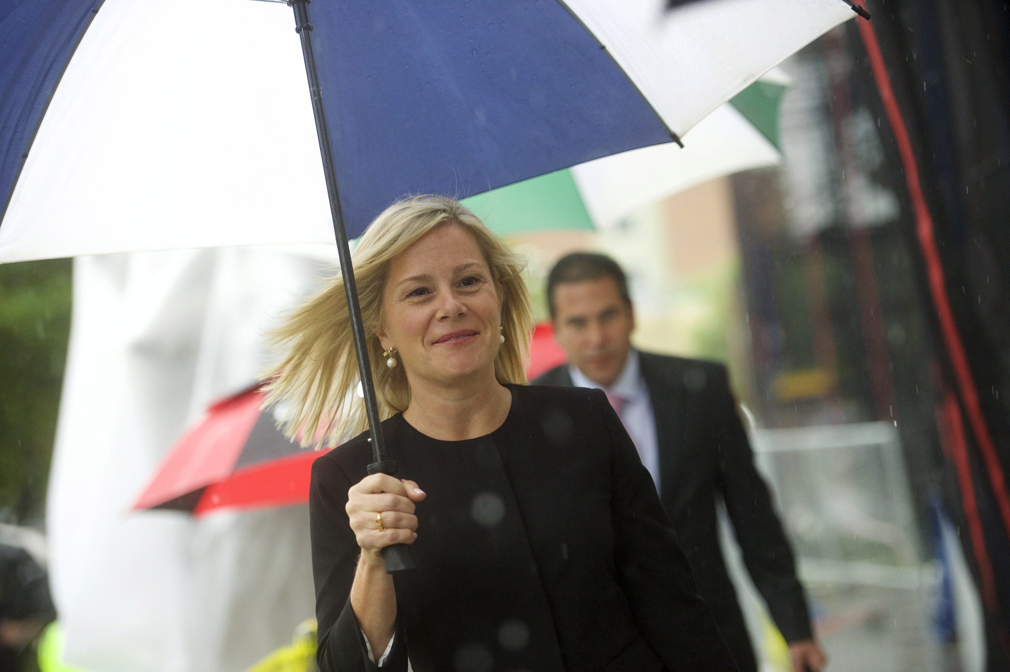 "Bridget Anne Kelly arrives at the Martin Luther King, Jr. Federal Courthouse before opening statements are heard in the ""Bridgegate"" trial."