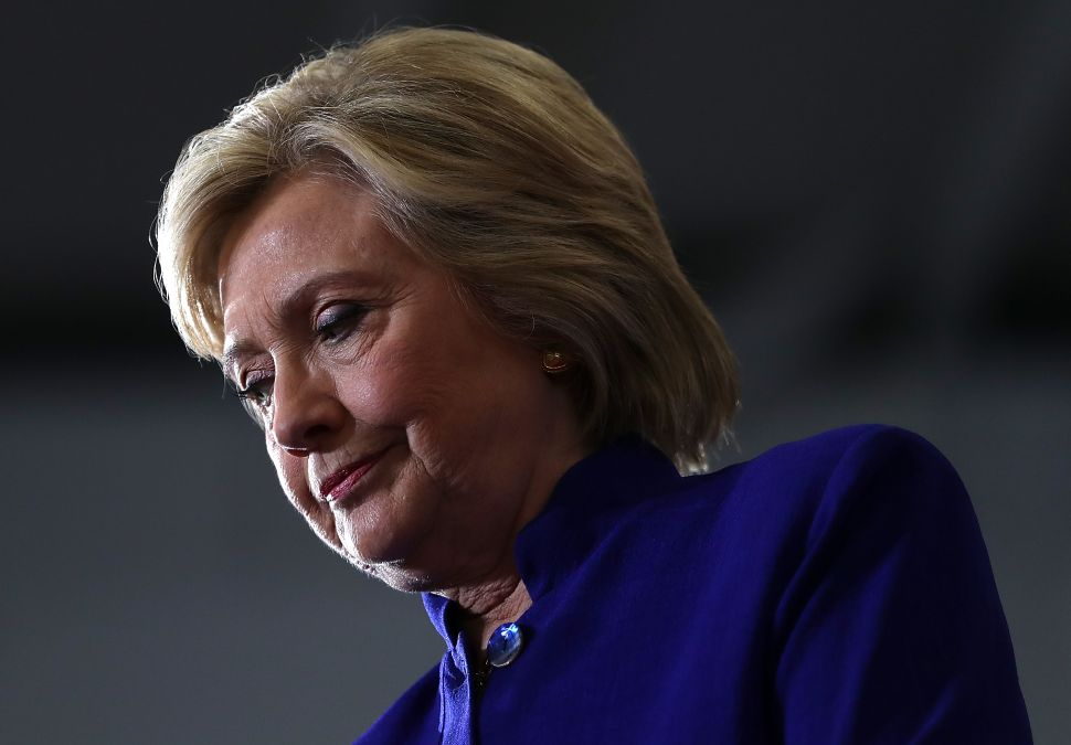 Democratic presidential nominee Hillary Clinton .