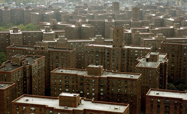 The Peter Cooper Village and Stuyvesant Town apartment complex is seen from Waterside Plaza October 19, 2006 in New York City.